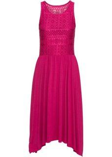 Платье с кружевной отделкой (красная ягода) Bonprix