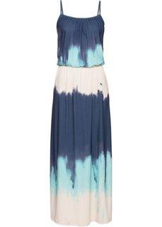 Платье с принтом батик (синий/бирюзовый с рисунком) Bonprix