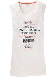 Ночная рубашка (цвет белой шерсти с рисунком) Bonprix