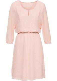 Платье из рельефного материала (винтажно-розовый) Bonprix