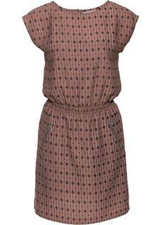 Платье (розовое дерево/черный с рисунком) Bonprix