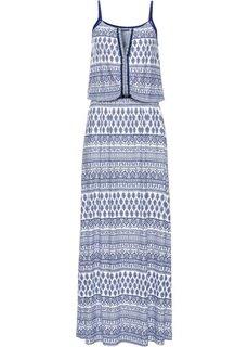 Длинное платье с узором (синий с узором) Bonprix