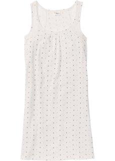 Ночная рубашка (цвет белой шерсти/темно-синий с рисунком) Bonprix