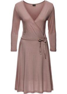 Трикотажное платье (розовое дерево) Bonprix