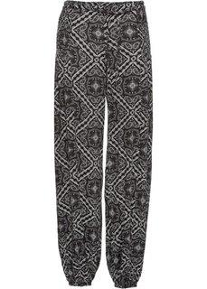 Брюки-шаровары (черный/цвет белой шерсти) Bonprix