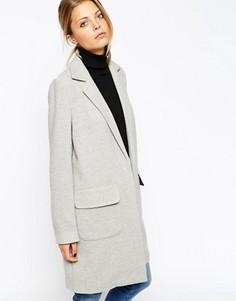 Пальто узкого кроя ASOS - Серый