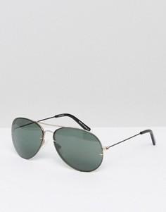 Черные солнцезащитные очки-авиаторы без оправы Pala - Черный
