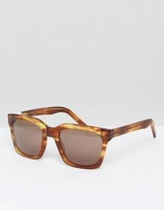 Квадратные черепаховые солнцезащитные очки Pala - Коричневый