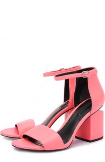 Кожаные босоножки на фигурном каблуке Alexander Wang