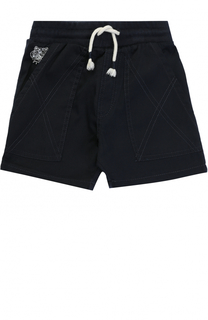 Хлопковые шорты с накладными карманами и прострочкой Kenzo