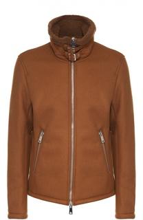 Утепленная куртка на молнии с воротником-стойкой Armani Jeans