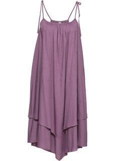 Платье на бретелях (темно-сиреневый) Bonprix