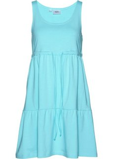 Трикотажное платье с завязывающейся лентой (нежно-бирюзовый) Bonprix