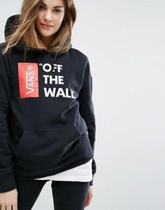 Oversize-худи черного цвета с логотипом Off The Wall Vans - Черный
