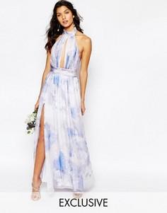 Платье макси с принтом Fame and Partners River - Мульти