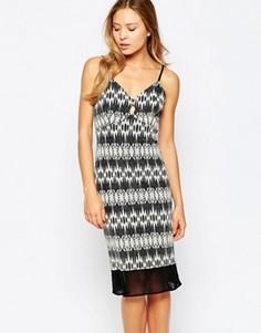 Облегающее платье миди Love - Черный