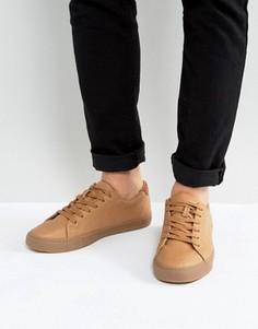 Cветло-коричневые кроссовки со шнуровкой ASOS - Рыжий