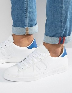 Белые кроссовки с логотипом Armani Jeans - Белый