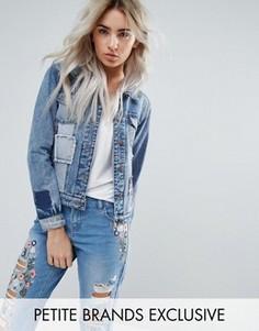 Джинсовая куртка с отделкой в стиле пэчворк Urban Bliss Petite - Мульти