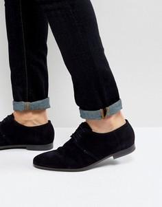Темно-синие замшевые туфли дерби BOSS By Hugo Boss - Темно-синий