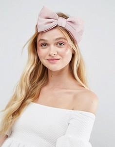 Атласная повязка на голову ограниченной серии с бантом - Розовый Asos