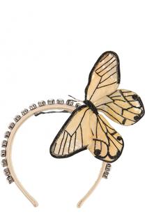 Ободок с декоративной отделкой в виде бабочки Dolce & Gabbana
