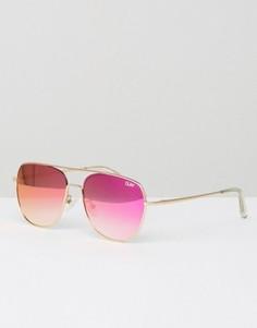 Солнцезащитные очки‑авиаторы Quay Australia Running Riot - Золотой