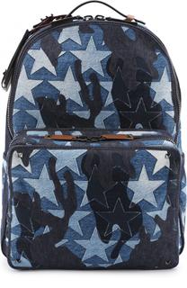 Текстильный рюкзак Camustars с кожаной отделкой Valentino