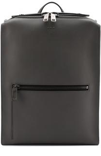 Кожаный рюкзак с внешним карманом на молнии Fendi