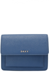 Сумка Mini Flap из сафьяновой кожи DKNY