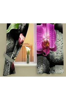 """Фотошторы """"Орхидея на камнях"""" Стильный Дом"""