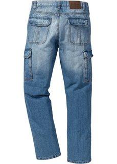 Классические джинсы карго, низкий + высокий рост (U + S) (голубой) Bonprix