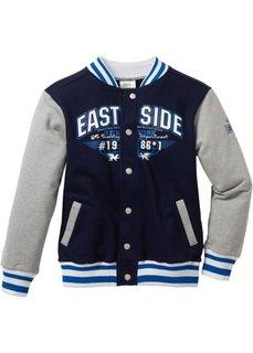 Колледжская куртка, Размеры 116/122-164/170 (темно-синий/светло-серый меланж) Bonprix