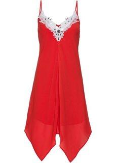 Платье с кружевной отделкой (красный/белый) Bonprix