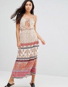 Пляжное платье макси с принтом Anmol - Красный