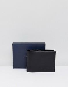 Кожаный бумажник с карманом для монет Tommy Hilfiger - Черный