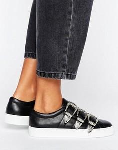 Кроссовки в стиле вестерн с пряжкой ASOS DESERT ISLAND - Черный
