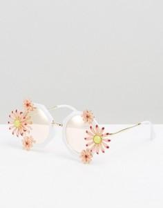 Очки с цветочной отделкой ALDO - Белый