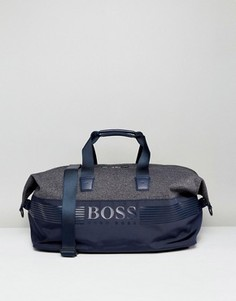Темно-синяя сумка из разных материалов BOSS Green by Hugo Boss - Темно-синий