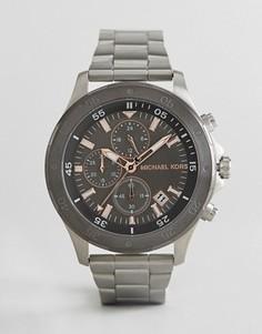 Серебристые наручные часы 44 мм Michael Kors MK8569 - Серебряный