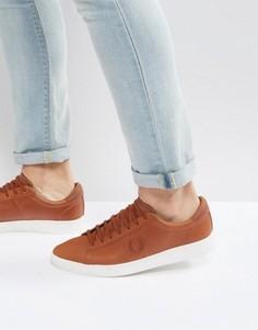 Кроссовки из вощеной кожи Fred Perry Spencer - Рыжий