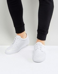 Белые кеды на шнуровке с перфорацией ASOS - Белый