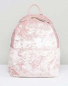 Рюкзак из мятого бархата Glamorous - Розовый