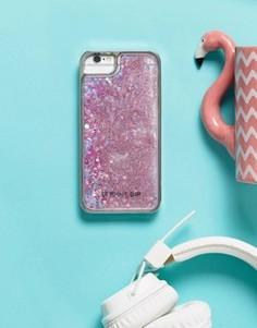 Чехол для iPhone 6/6S/7 с блестками и фламинго Skinnydip - Мульти