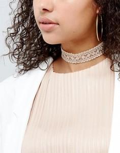 Кружевное ожерелье-чокер ограниченной серии - Кремовый Asos