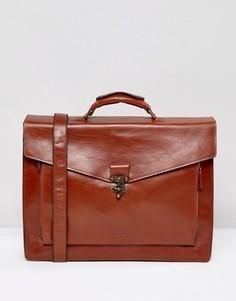 Кожаный портфель Royal Republiq Conductor - Коричневый