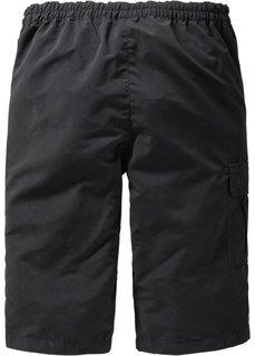 Удлиненные бермуды (черный) Bonprix