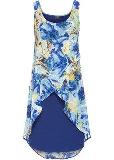 Платье (ночная синь с рисунком) Bonprix