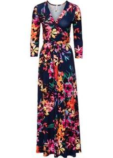 Платье (синий/розовый в цветочек) Bonprix