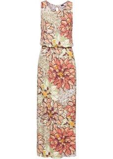 Длинное трикотажное платье (с рисунком) Bonprix